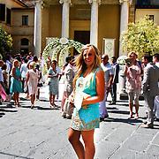 ITA/Siena/20100717 Wedding of soccerplayer Wesley Sneijder and tv host Yolanthe Cabau van Kasbergen, Fleur Minjon