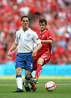 Scott Parker of England in action with Tranquillo Barnetta of Switzerland, England v Switzerland, EURO 2012 Qualifying Group G  4/6/2011<br /><br />Photo Marc Atkins  Fotosports International