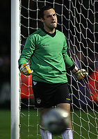 Photo: Paul Thomas.<br /> Port Vale v Norwich City. Carling Cup. 24/10/2006.<br /> <br /> Mark Goodlad the Vale keeper celebrates saving Jason Shackell's shot during the penalty shoot out.