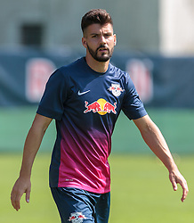07.07.2015, Steinbergstadion, Leogang, AUT, Trainingslager, RB Leipzig, im Bild Anthony Jung (RB Leipzig) // during the Trainingscamp of German 2nd Bundesliga Club RB Leipzig at the Steinbergstadium in Leogang, Austria on 2015/07/07. EXPA Pictures © 2015, PhotoCredit: EXPA/ JFK