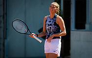 Petra Kvitova of the Czech Republic during practice ahead of the Roland-Garros 2021, Grand Slam tennis tournament, Qualifying, on May 28, 2021 at Roland-Garros stadium in Paris, France - Photo Rob Prange / Spain ProSportsImages / DPPI / ProSportsImages / DPPI