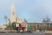 Misty Morning at Balboa Park in San Diego California