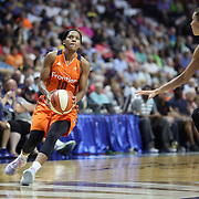 UNCASVILLE, CONNECTICUT- JULY 15:  Courtney Williams #10 of the Connecticut Sun in action during the Los Angeles Sparks Vs Connecticut Sun, WNBA regular season game at Mohegan Sun Arena on July 15, 2016 in Uncasville, Connecticut. (Photo by Tim Clayton/Corbis via Getty Images)