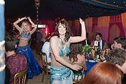 BELLY DANCERS EASTER ROSE; AYSHE, Alice Manners 18th   birthday. Belvoir Castle, Grantham. 12 April 2013.
