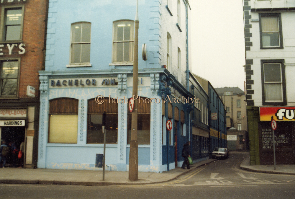 Old Dublin Amature Photos May 1983 WITH, Kavanagh's Pub, Dorset St, Shop Front, Aston Quay, Halfpenny Bridge, Merchants Arch, Bachelor Inn, Old amateur photos of Dublin streets churches, cars, lanes, roads, shops schools, hospitals