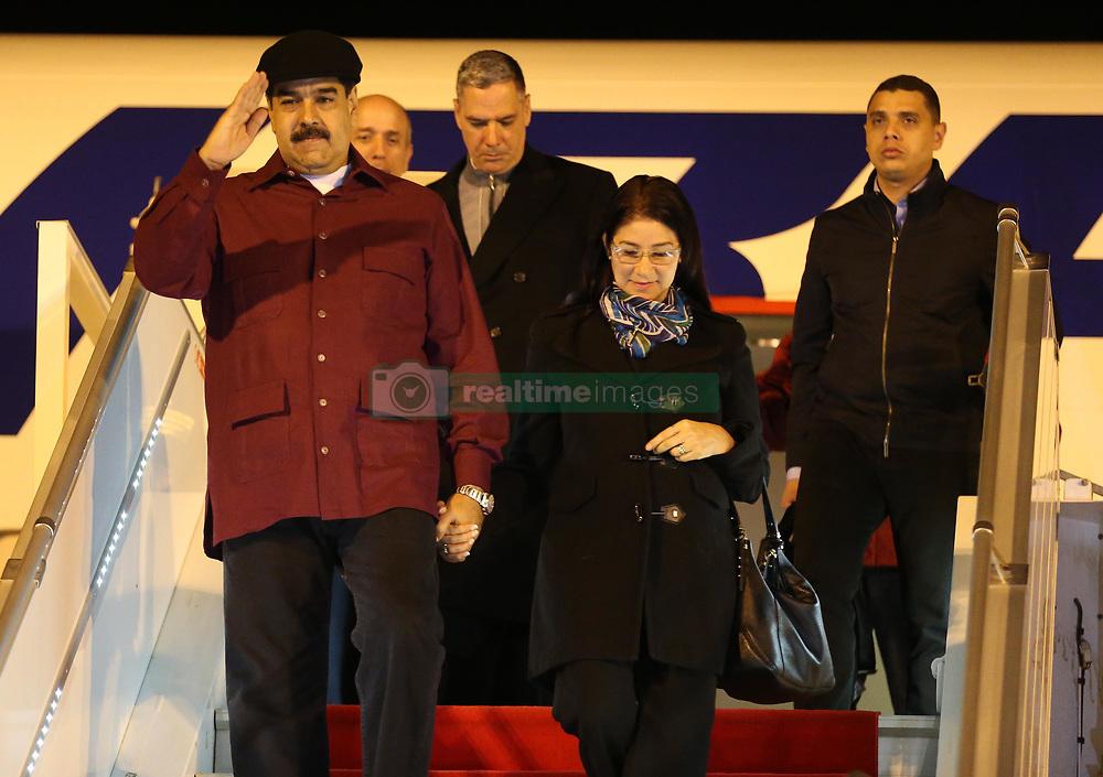 September 11, 2017 - Algiers, Algeria - President of Venezuela Nicolas Maduro arrives in Algiers, Algeria, on September 11, 2017. Mr. Maduro has been received by President of National Assembly Abdelkader Bensalah. (Credit Image: © Billal Bensalem/NurPhoto via ZUMA Press)