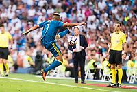 Celta de Vigo's player Theo Bongonda during a match of La Liga Santander at Santiago Bernabeu Stadium in Madrid. August 27, Spain. 2016. (ALTERPHOTOS/BorjaB.Hojas)