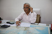 S.M. Khandelwal, the renown Agra businessman and former chairman of the Taj Trapezium Struggle Committee, is talking on the phone from his office in Agra's industrial area..