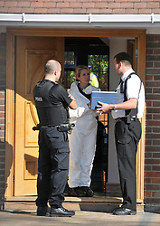 © under license to London News pictures.  10/10/2010. Police officers at the house. Detectives have launched a murder investigation and arrested a 16-year-old and another man after a woman died following an assault at a house.Police were called to an address in Wendover Road, Aylesbury, Bucks, on Saturday evening and arrested the teenager and a 21-year-old man at the scene on suspicion of murder.The suspects are currently in custody at Aylesbury police station.The victim, a 40-year-old woman who lives at the address where the incident took place, was taken to Stoke Mandeville Hospital with serious injuries but died shortly after 8pm.