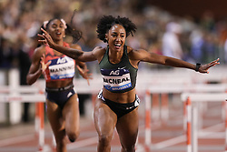 BRUSSELS, Sept. 1, 2018  Brianna McNeal (Front) of the United States celebrates after the women's 100m hurdles at the IAAF Diamond League athletics meeting in Brussels, Belgium, Aug. 31, 2018. Brianna McNeal claimed the title in a time of 12.61 seconds. (Credit Image: © Zheng Huansong/Xinhua via ZUMA Wire)