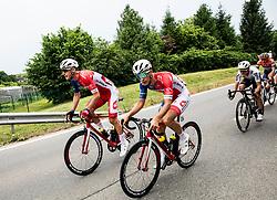 David Per (SLO) of Adria Mobil and Gasper Katrasnik (SLO) of Adria Mobil during 1st Stage of 26th Tour of Slovenia 2019 cycling race between Ljubljana and Rogaska Slatina (171 km), on June 19, 2019 in  Slovenia. Photo by Vid Ponikvar / Sportida