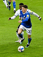 Football - 2020 / 2021 Sky Bet Championship - Swansea City vs Cardiff City - Liberty Stadium<br /> <br /> Harry Wilson Cardiff City on the attack Addji Keaninkin Marc-Isra Swansea Cityel Guehi Swansea City defends in the South Wales local derby match<br /> <br /> COLORSPORT/WINSTON BYNORTH