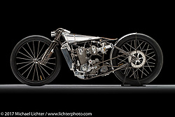 A supercharged KTM 520 built by Max Hazan of Hazan Motorworks in Los Angeles, CA. Photographed by Michael Lichter in Sturgis, SD on July 30, 2017. ©2017 Michael Lichter.