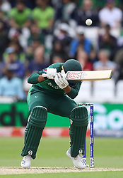 Pakistan's Haris Sohail ducks a bouncer during the ICC Cricket World Cup group stage match at Trent Bridge, Nottingham.
