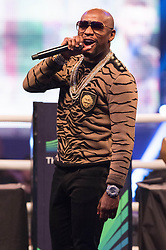 July 14, 2017 - London, London, UK - Professional boxer FLOYD MAYWEATHER UFC and appears at Wembley SSE on the final leg of their World Tour in London, UK (Credit Image: © Ray Tang via ZUMA Wire)