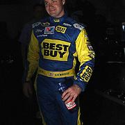 NASCAR Sprint Cup driver Ricky Stenhouse Jr. is seen in the garage area, during a NASCAR Daytona 500 practice session at Daytona International Speedway on Wednesday, February 20, 2013 in Daytona Beach, Florida.  (AP Photo/Alex Menendez)