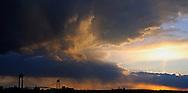 Storm approaching Verrazano Narrows Bridge.