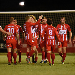 BRISBANE, AUSTRALIA - AUGUST 5:  during the NPL Senior Men's Round 23 match between Olympic FC and Brisbane City on August 5, 2018 in Brisbane, Australia. (Photo by Olympic FC / Patrick Kearney)