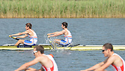 Trackai. LITHUANIA.  GBR BM2- Bow. Matthew BEDFORD and Wilf KIMBERLEY, Qualify for the Sunday final, of the men's pair, at the  2012 FISA U23 World Rowing Championships,   16:13:25 {dow], {date} [Mandatory Credit: Peter Spurrier/Intersport Images]..Rowing. 2012. U23.