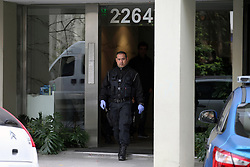 June 7, 2017 - Buenos Aires, Buenos Aires, Argentina - Man dies after falling from 7 floor. The corpse was found in the courtyard of the building where model Gisela Berger lives; Former girlfriend of former presidential candidate Daniel Scioli, of whom she is pregnant, amid a public scandal. (Credit Image: © Claudio Santisteban via ZUMA Wire)