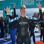 London, England, UK. 16th September 2017. Chiara Genovese Winner of the Super six Swim Serpentine 2017 at Serpentine lake.