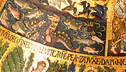 Detail from Saint Mark's Basilica (Basilica Cattedrale Patriarcale di San Marco). In Venice, Italy. Consecrated in 1650 AD. Internal walls of the Basilica, adorned with mosaics and paintings.
