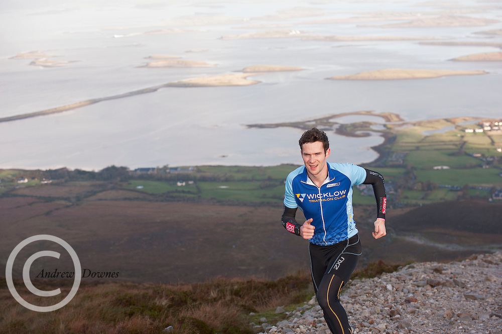 08/11/2014 repro free participants on Croagh Patrick  in the Sea 2 Summit adventure race in Westport Co. Mayo. Photo:Andrew Downes