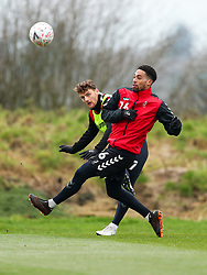 Zak Vyner and Chris Martin of Bristol City during a training session ahead of the FA Cup game with Portsmouth - Rogan/JMP - 07/01/2021 - Failand - Bristol, England.