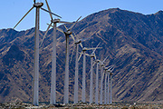 The San Gorgonio Pass wind farm is seen from the I-10 East on Friday, Oct. 2, 2020, in North Palm Springs, Calif. (Dylan Stewart/Image of Sport)
