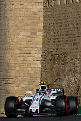 June 24, 2017 - Baku, Azerbaijan - Lance Stroll of Canada driving the (18) Williams Martini Racing F1 Team on track during final practice for the Azerbaijan Formula One Grand Prix at Baku City Circuit. (Credit Image: © Aziz Karimov/Pacific Press via ZUMA Wire)