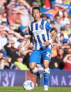 Brighton defender full back Liam Rosenior on the ball during the Sky Bet Championship match between Brighton and Hove Albion and Hull City at the American Express Community Stadium, Brighton and Hove, England on 12 September 2015. Photo by Bennett Dean.