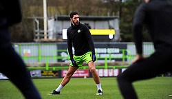 Dan Sweeney of Forest Green Rovers warms up prior to kick-off- Mandatory by-line: Nizaam Jones/JMP - 16/01/2021 - FOOTBALL - innocent New Lawn Stadium - Nailsworth, England - Forest Green Rovers v Port Vale - Sky Bet League Two