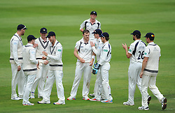 Middlesex celebrate the wicket of Craig Overton.   - Mandatory by-line: Alex Davidson/JMP - 10/07/2016 - CRICKET - Cooper Associates County Ground - Taunton, United Kingdom - Somerset v Middlesex - Specsavers County Championship Division One
