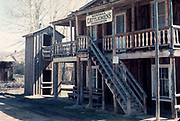 Nevada City historic ghost town, Montana, USA sign Montana Cattleman's Association 1976