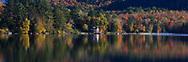 Lake Placid in the Adirondack Mountains during autumn, Upstate New York, USA