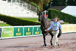 Natasha Baker, (GBR), Cabral - Horse Inspection Para Dressage - Alltech FEI World Equestrian Games™ 2014 - Normandy, France.<br /> © Hippo Foto Team - Jon Stroud<br /> 25/06/14