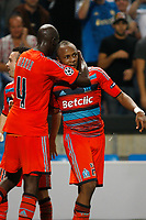 FOOTBALL - UEFA CHAMPIONS LEAGUE 2011/2012 - GROUP STAGE - GROUP F - OLYMPIQUE MARSEILLE v BORUSSIA DORTMUND - 28/09/2011 - PHOTO PHILIPPE LAURENSON / DPPI - JOY AFTER SECOND GOAL Andre Ayew  (OM)