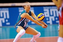 18-09-2011 VOLLEYBAL: DELA TROPHY NEDERLAND - TURKIJE: ALMERE<br /> Nederland wint met 3-0 van Turkije en wint hierddor de DELA Trophy / Libero Janneke van Tienen<br /> ©2011-FotoHoogendoorn.nl