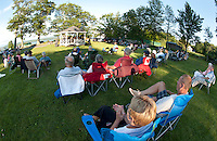 The 2nd Baptist Church in Sanbornton hosted a spaghetti dinner followed by a concert with the Lakes Region Big Band raising over $2300.00 that will go towards rebuilding a new bandstand on their front lawn.  (Karen Bobotas/for the Laconia Daily Sun)