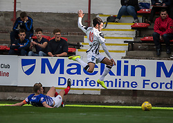Cowdenbeath's Bradley Donaldson and Dunfermline's Faissal El Bahktaoui. <br /> Dunfermline 7 v 1 Cowdenbeath, SPFL Ladbrokes League Division One game played 15/8/2015 at East End Park.