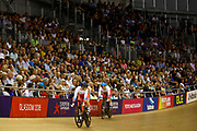 Women Sprint, Daria Shmeleva (Russian Federation), Anastasia Voinova (Russian Federation), during the Track Cycling European Championships Glasgow 2018, at Sir Chris Hoy Velodrome, in Glasgow, Great Britain, Day 4, on August 5, 2018 - Photo Luca Bettini / BettiniPhoto / ProSportsImages / DPPI - Belgium out, Spain out, Italy out, Netherlands out -