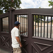 A man views the former site of Neverland Ranch where Michael Jackson once lived.