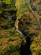 Image of Pewits Nest, a Wisconsin State Natural Area, in all of its autumn glory. Near Baraboo, Wisconsin, USA, along Skillet Creek.