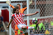 Joe Allen of Stoke city in action.   Premier league match, Stoke City v West Ham Utd at the Bet365 Stadium in Stoke on Trent, Staffs on Saturday 29th April 2017.<br /> pic by Bradley Collyer, Andrew Orchard sports photography.