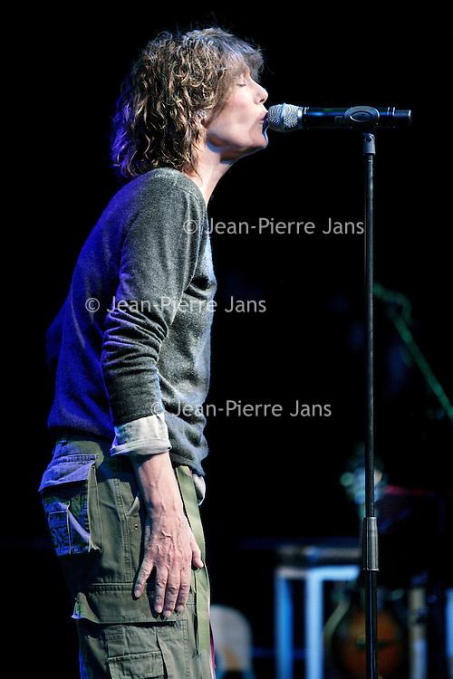 """Nederland,Amsterdam ,1 februari 2008..Jane Mallory Birkin (Londen, 14 december 1946) is een Engelse actrice en zangeres die sinds eind jaren 1960 in Frankrijk woont. In Nederland is ze vooral bekend van haar duet met haar toenmalige echtgenoot, Serge Gainsbourg, """"Je t'aime... moi non plus"""" uit 1969."""