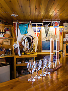 """Women can exchange their bra for a free drink at the bar of Vernadsky Research Base (Akademik Vernadsky), a Ukrainian Antarctic Station at Marina Point on Galindez Island in the Argentine Islands, Antarctica. The United Kingdom first established research here as Base F or """"Argentine Islands"""" on Winter Island in 1947, then built a larger hut on Galindez Island in 1954, renamed it Faraday Station in 1977, and shocked the scientific community by discovering the Antarctic """"ozone hole"""" in 1985. The base was transferred to Ukraine in 1996."""