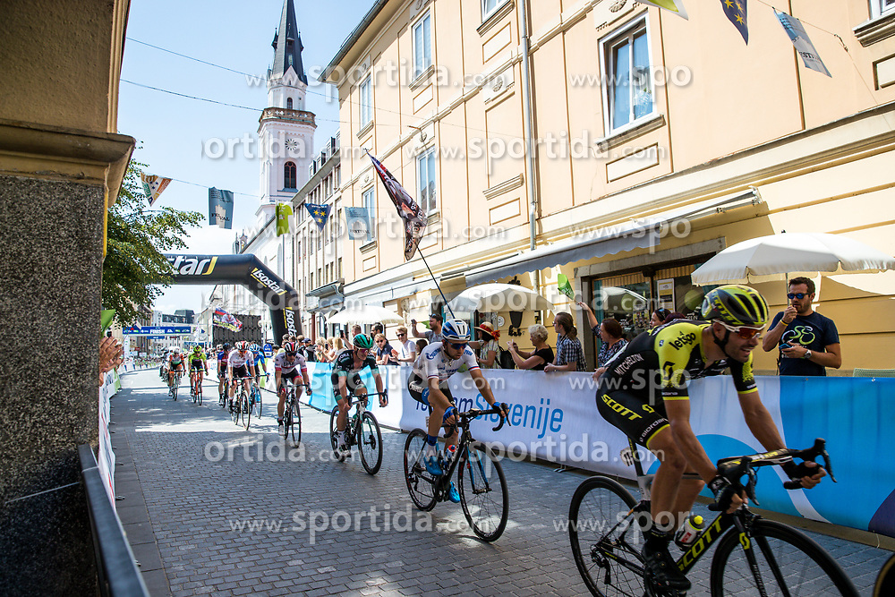 Luka Mezgec (SLO) of Mitchelton - Scott and Ivan Rovny (RUS) of Gazprom - Rusvelo during 2nd Stage of 26th Tour of Slovenia 2019 cycling race between Maribor and Celje (146,3 km), on June 20, 2019 in Slovenia.. Photo by Matic Klansek Velej / Sportida