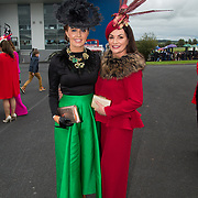 08.10.17.            <br /> Pictured at Limerick Racecourse for the  Keanes Most Stylish Lady competition were, Gretta Peters and Diana Hilliard. Picture: Alan Place