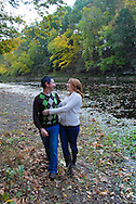 10/14/12 9:27:12 AM - Newtown, PA.. -- Amanda & Elliot October 14, 2012 in Newtown, Pennsylvania. -- (Photo by William Thomas Cain/Cain Images)