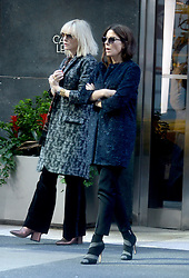 Cate Blanchett and Sandra Bullock make sure to stay warm as they arrive to the set in chilly NYC to share the silver screen with Helena Bonham Carter. New York City, NY, USA, October 26, 2016. Photo by Dennis Van Tine/ABACAPRESS.COM